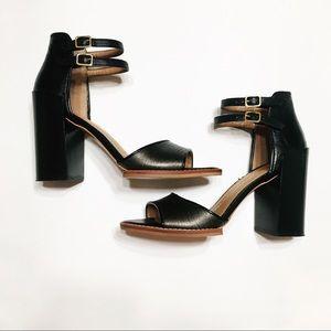 dv dolce vita alligator ankle strap block heels